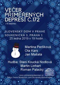 Večer přiměřených depresí č.172 @ Slovenský dům | Hlavní město Praha | Česko